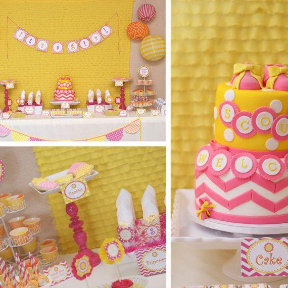 you are my sunshine girl baby shower girl baby shower pink orange