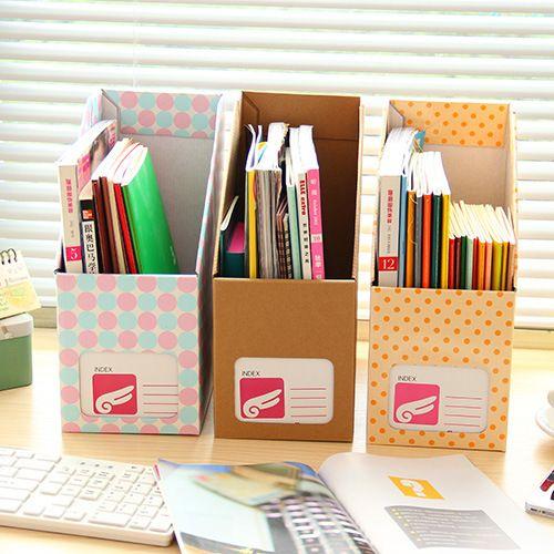 Creativos de corea oficina de papel kraft caja de for Papel para oficina
