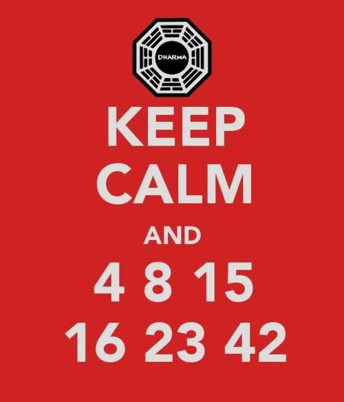 Keep Calm And 4 8 15 16 23 42 Serie De Television Palabras Cine