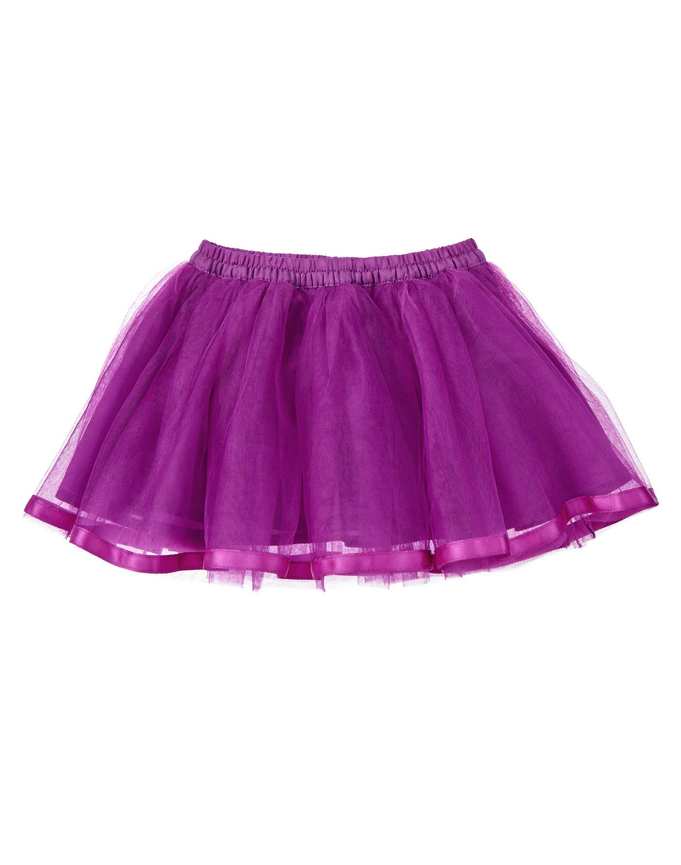 edd0cce855 Twirl away in this girly skirt made from layers of soft tulle. Finished  with elasticized waist and satin ribbon hem.