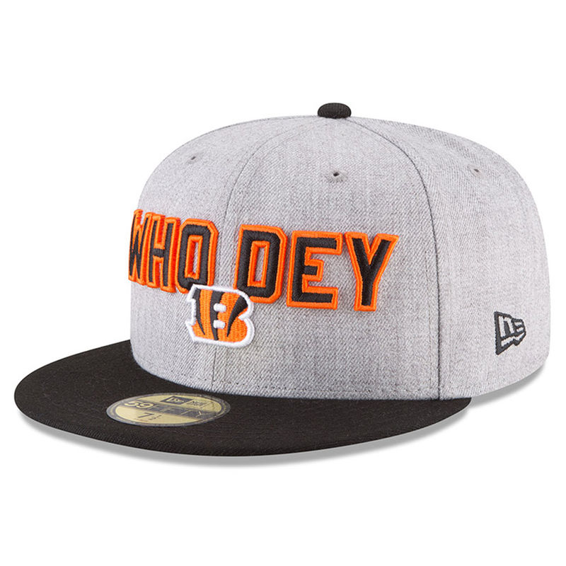 free shipping c9888 e6bb8 ... low profile 59fifty fitted hat bf05c 38716  sale cincinnati bengals new  era 2018 nfl draft official on stage 59fifty fitted hat heather gray