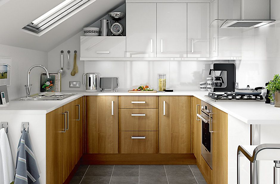 Kitchen_Ideas_Ss14_It_Walnut_Style_Modern 940×620  Two Tone Alluring B & Q Kitchen Design Inspiration