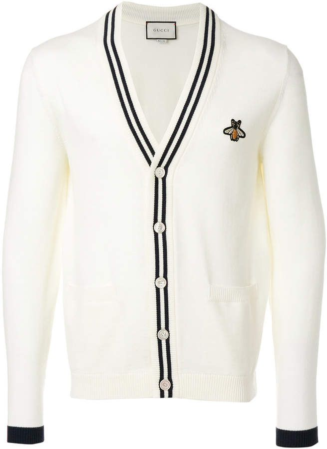 425b5da41a48 Gucci bee patch cardigan | Gucci•Shirts in 2019 | Gucci shirts ...