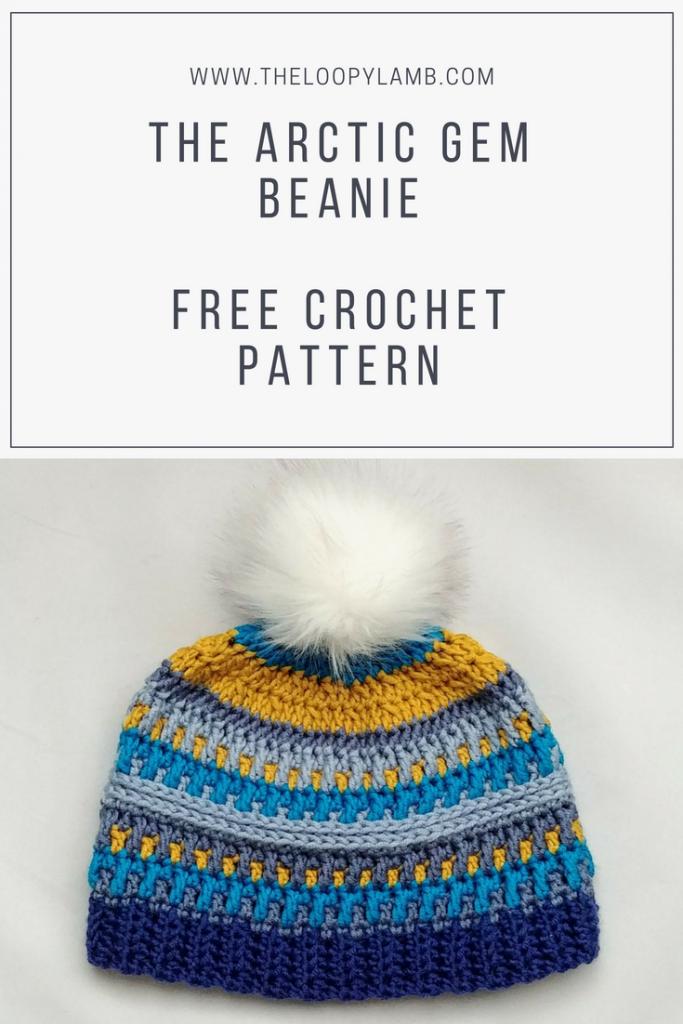 Free Crochet Hat Pattern - Arctic Gem Beanie. Featuring Caron X ...
