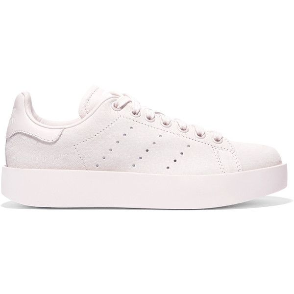 Stan Smith Bold Leather-trimmed Suede Sneakers - Lilac adidas Originals Clearance Nicekicks tvHXc