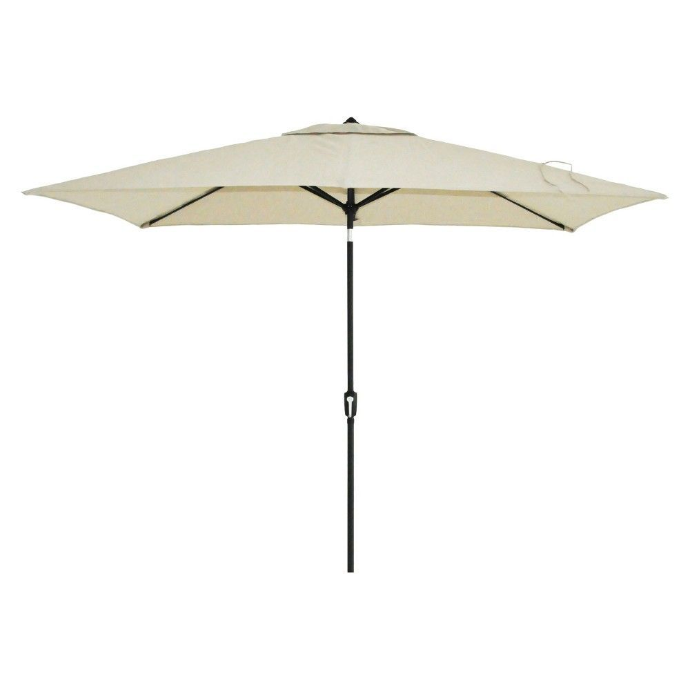 6 5 X 10 Rectangle Patio Umbrella Tan Black Pole Threshold