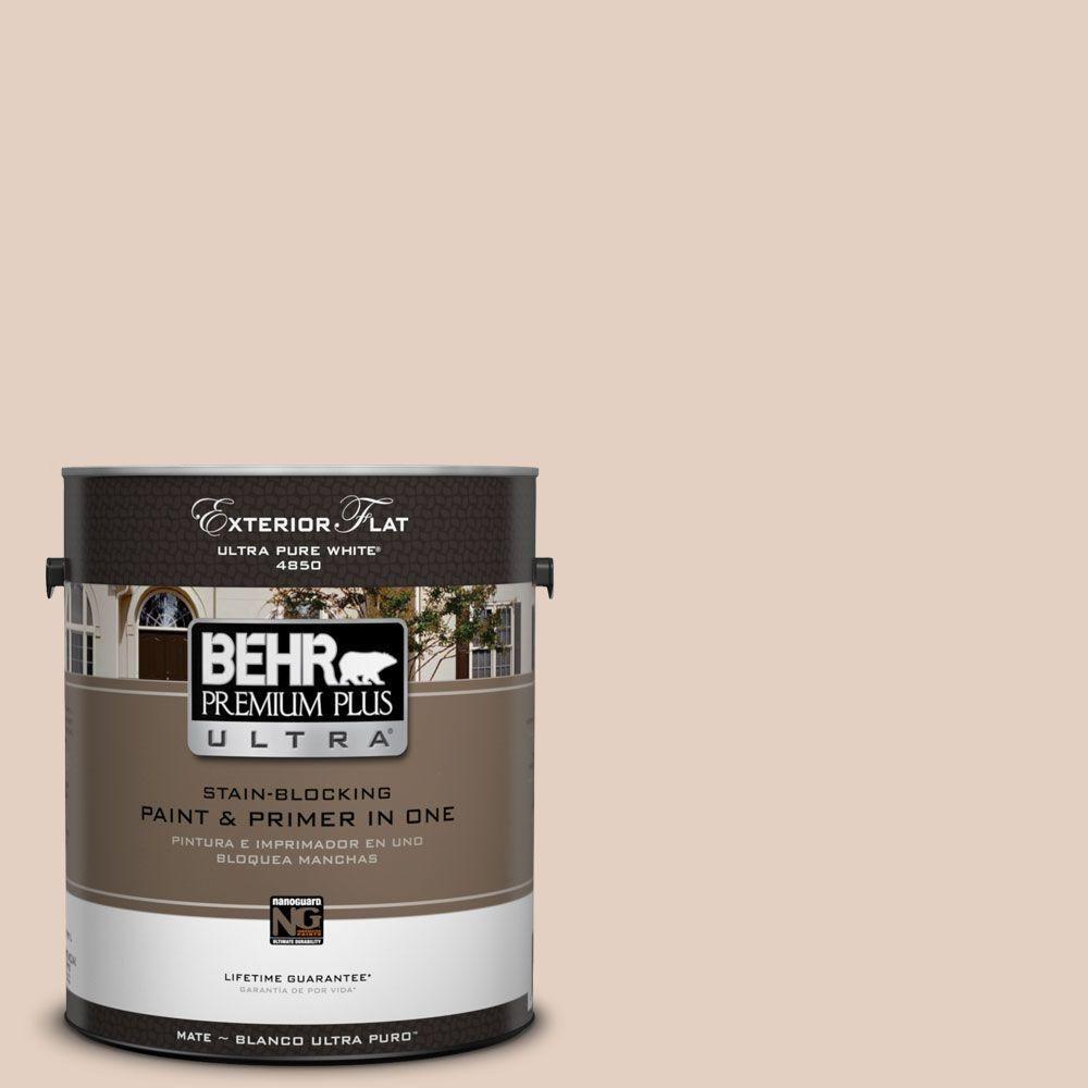 BEHR Premium Plus Ultra 1-gal. #S220-1 Autumn Blush Flat Exterior ...