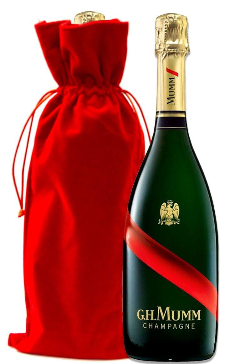 G H Mumm Brut Grand Cordon With Red Velvet Gift Bag Wine Com In 2020 Wine Com Wine Gift Set Red Velvet