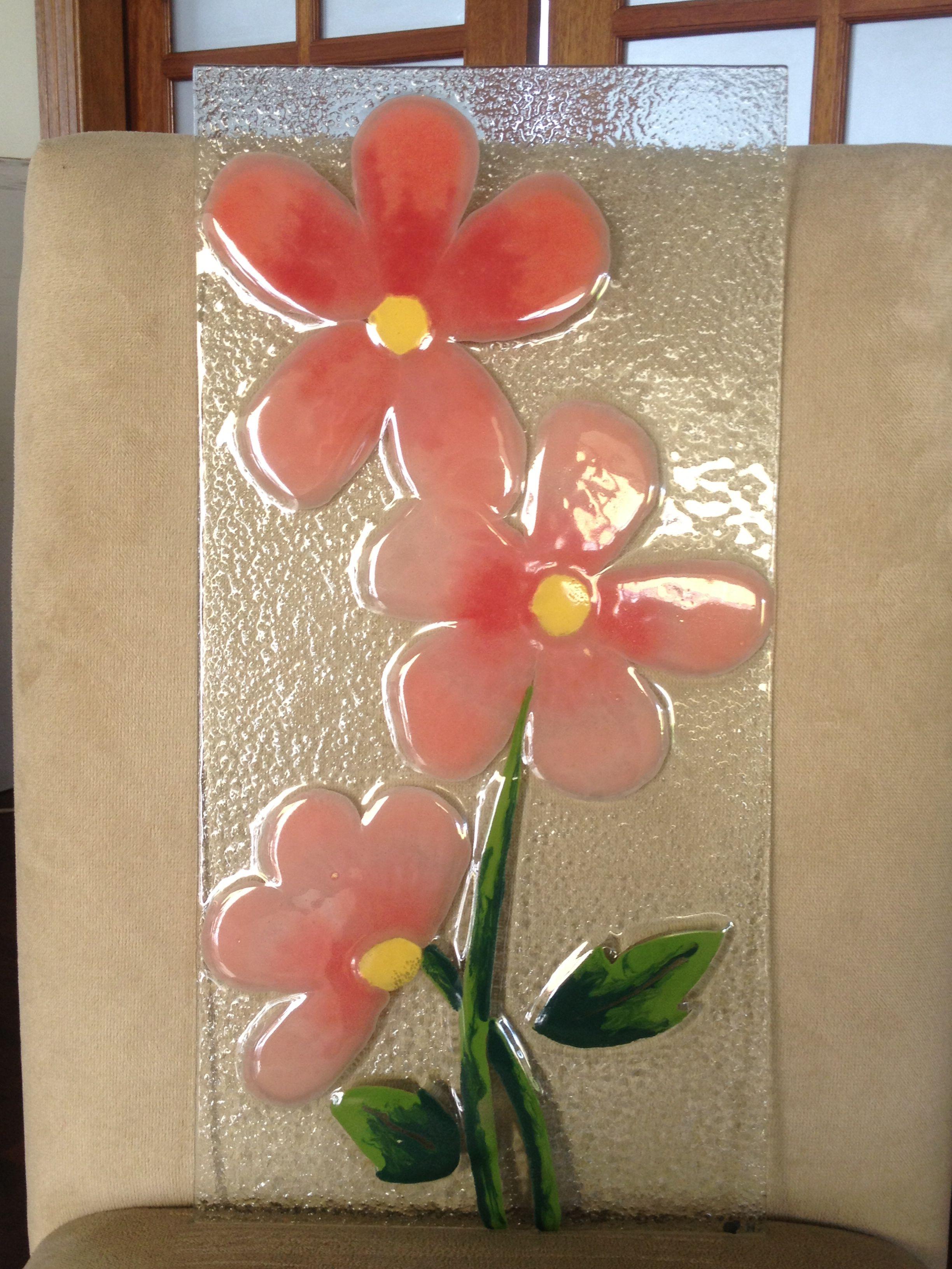Cuadro flores ideas de vidrio pinterest cuadros - Vidrio plastico para cuadros ...