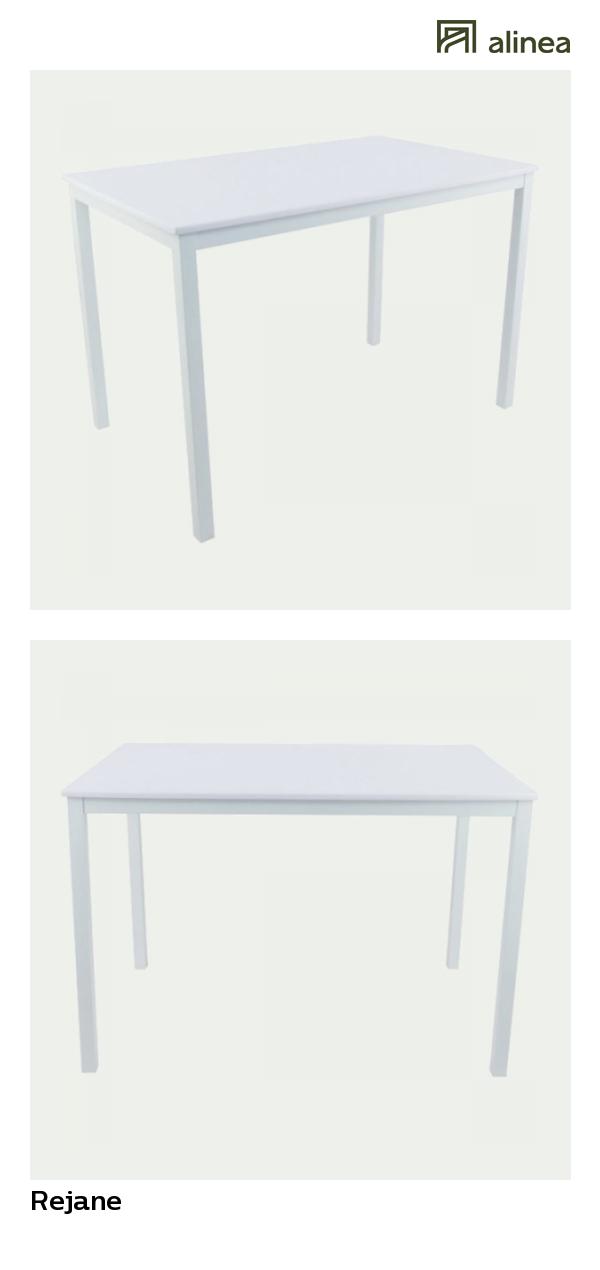 Alinea Rejane Table De Repas Rectangulaire Blanche L110cm 2 A 4