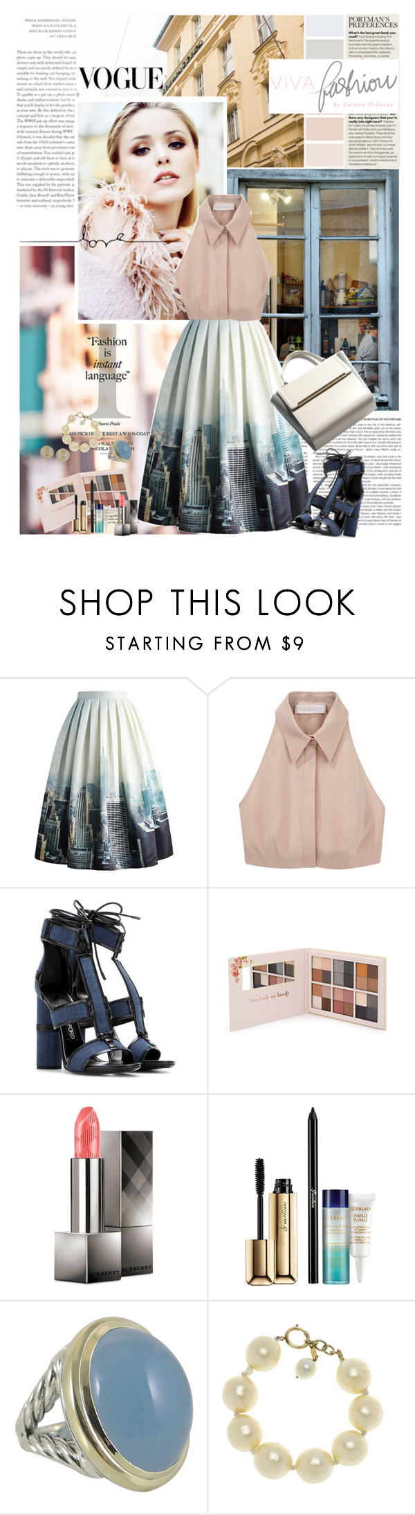 """""""Fashion Week"""" by ita-varela ❤ liked on Polyvore featuring Avery, Chicwish, Cacharel, Tom Ford, Forever 21, Burberry, Guerlain, David Yurman, Chanel and Hermès"""