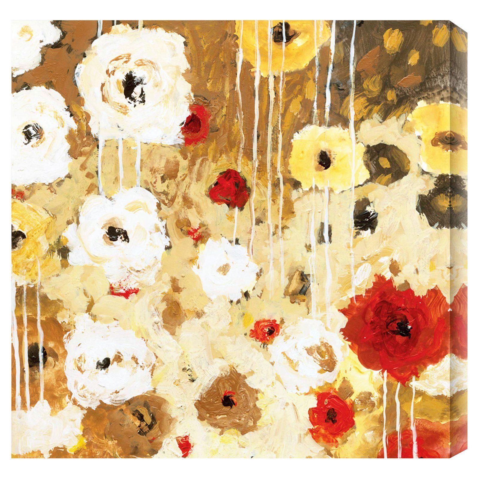 Flower dance i indooroutdoor canvas print by jaquiel ne