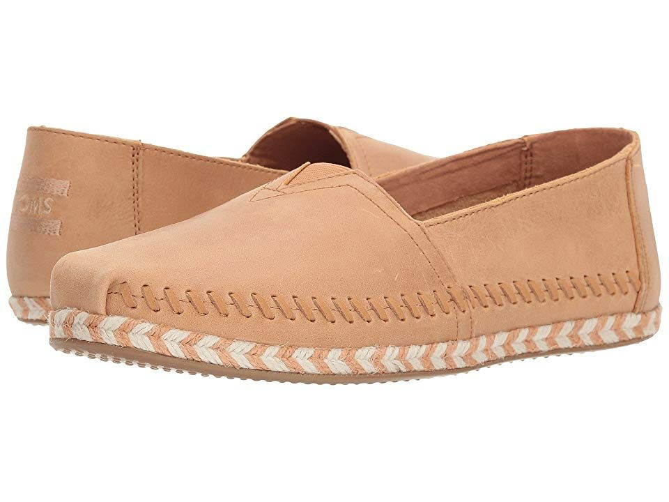 TOMS Seasonal Classics Honey Leather Womens Slip on Shoes With every pair of shoes you purchase TOMS will give a new pair of shoes to a child in need One for One No matte...