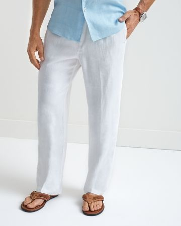 Tommy Bahama - Linen on the Beach Easy Fit Linen Pants | Tommy ...