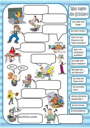 Klassensprache | Im Unterricht | Pinterest | Arbeitsblätter ...