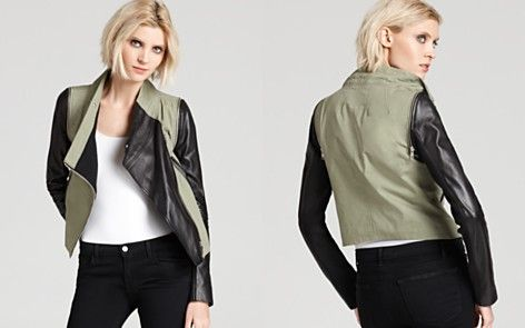 Cut25 by Yigal Azrouel Leather Jacket - Combo