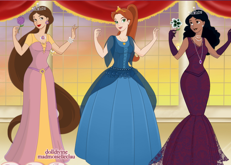 Brinley (Rapunzel & Flynn), Kersten (Anna & Kristoff) & Zaida (Tiana & Naveen) by Britney [©2014-2016 msbrit90]