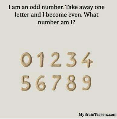 I Am An Odd Number Take Away One Letter And I Become Even What