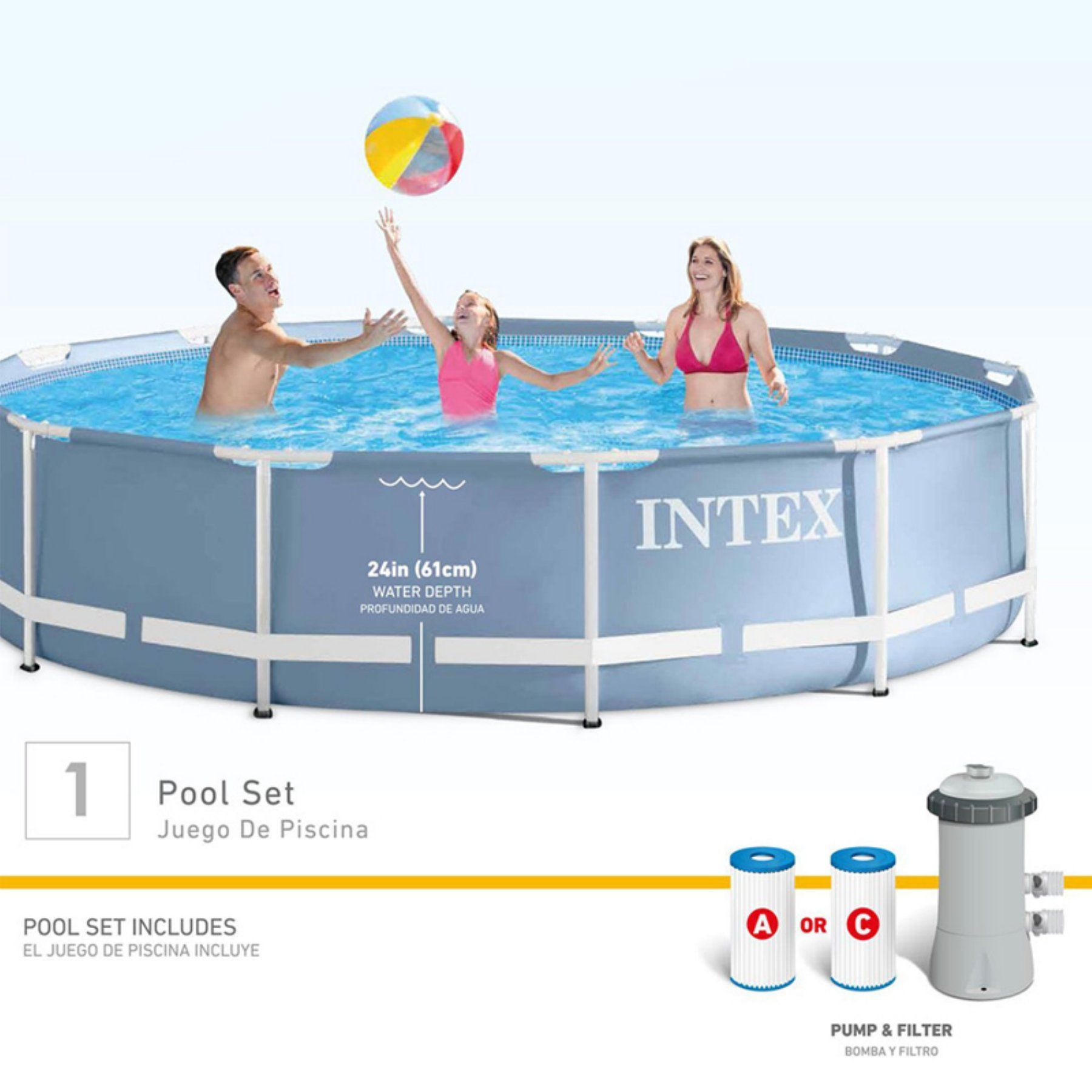 Intex Vs Bestway Review Intex Prism Frame Swimming Pool Set 28711eh Products