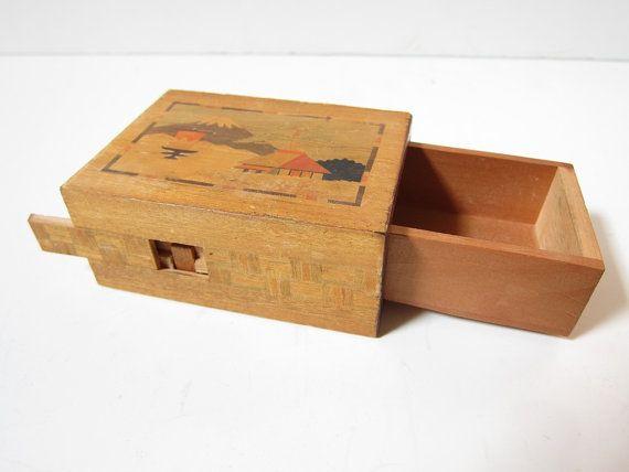Vintage Japanese Himitsu Bako Personal Secret By Passionateflea 30 00 Vintage Box Himitsu Bako Puzzle Box
