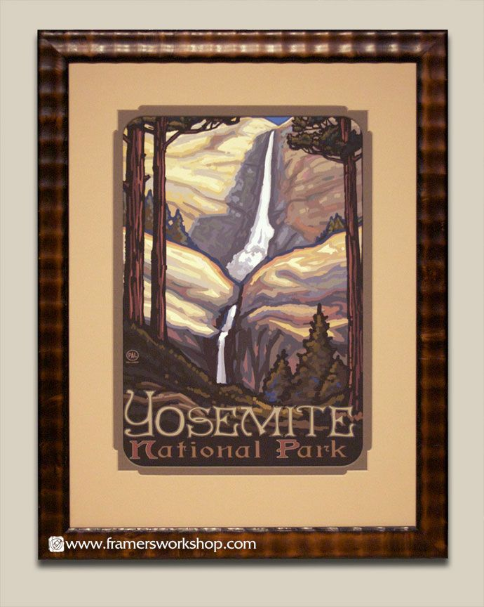 Paul lanquist multnomah falls poster at the framers workshop san francisco paul lanquist multnomah falls poster at the framers workshop berkeley ca do solutioingenieria Image collections