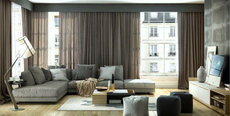 rideaux salon tendance 2016 fiche pratique et 30 photos. Black Bedroom Furniture Sets. Home Design Ideas