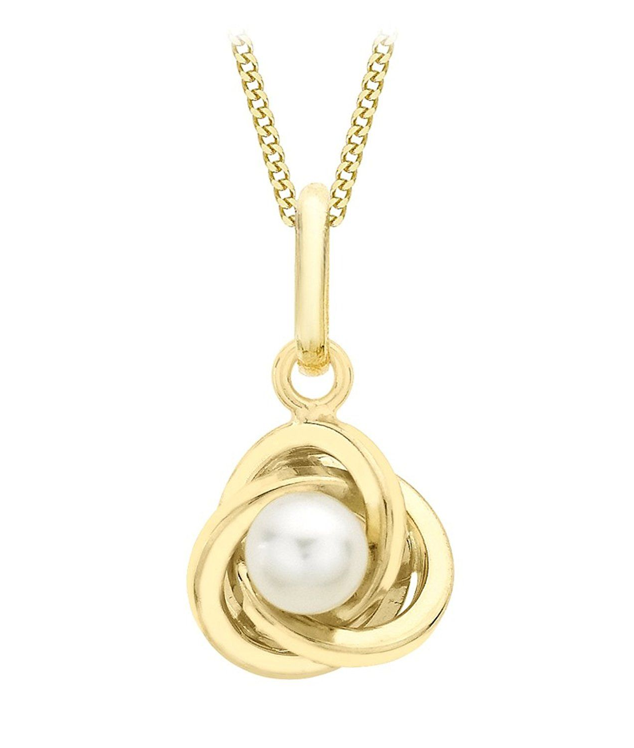 Carissima Gold Women's 9 ct Yellow Gold Diamond Cut Oval Locket Pendant on Curb Chain Necklace of Length 46 cm M0rAP7b1c9