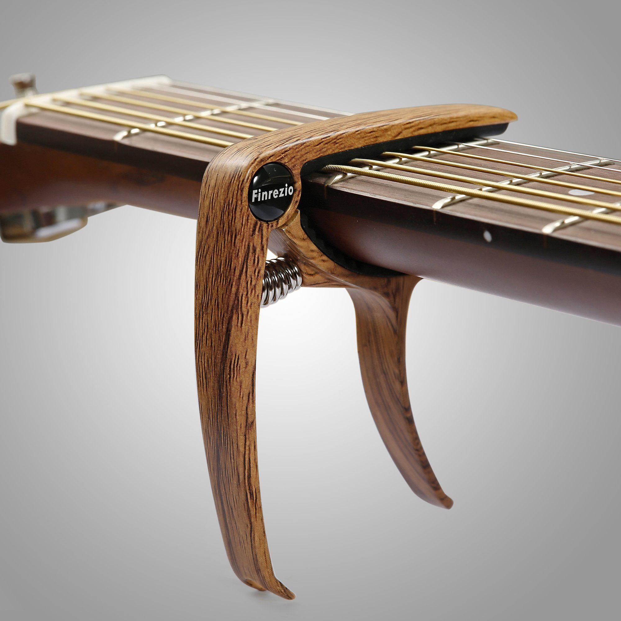 Finrezio 2 Pcs Classical Guitar Capos With 8 Pcs Guitar Picks For Acoustic Guitar 2 Pcs Wood Color More Info Coul Guitar Capo Classical Guitar Guitar Picks
