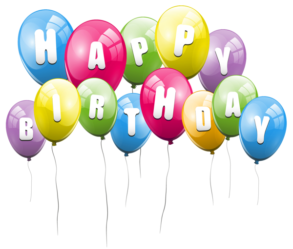 Transparent Balloons Happy Birthday Png Picture Clipart Happy Birthday Ballons Happy Birthday Png Happy Birthday Cards