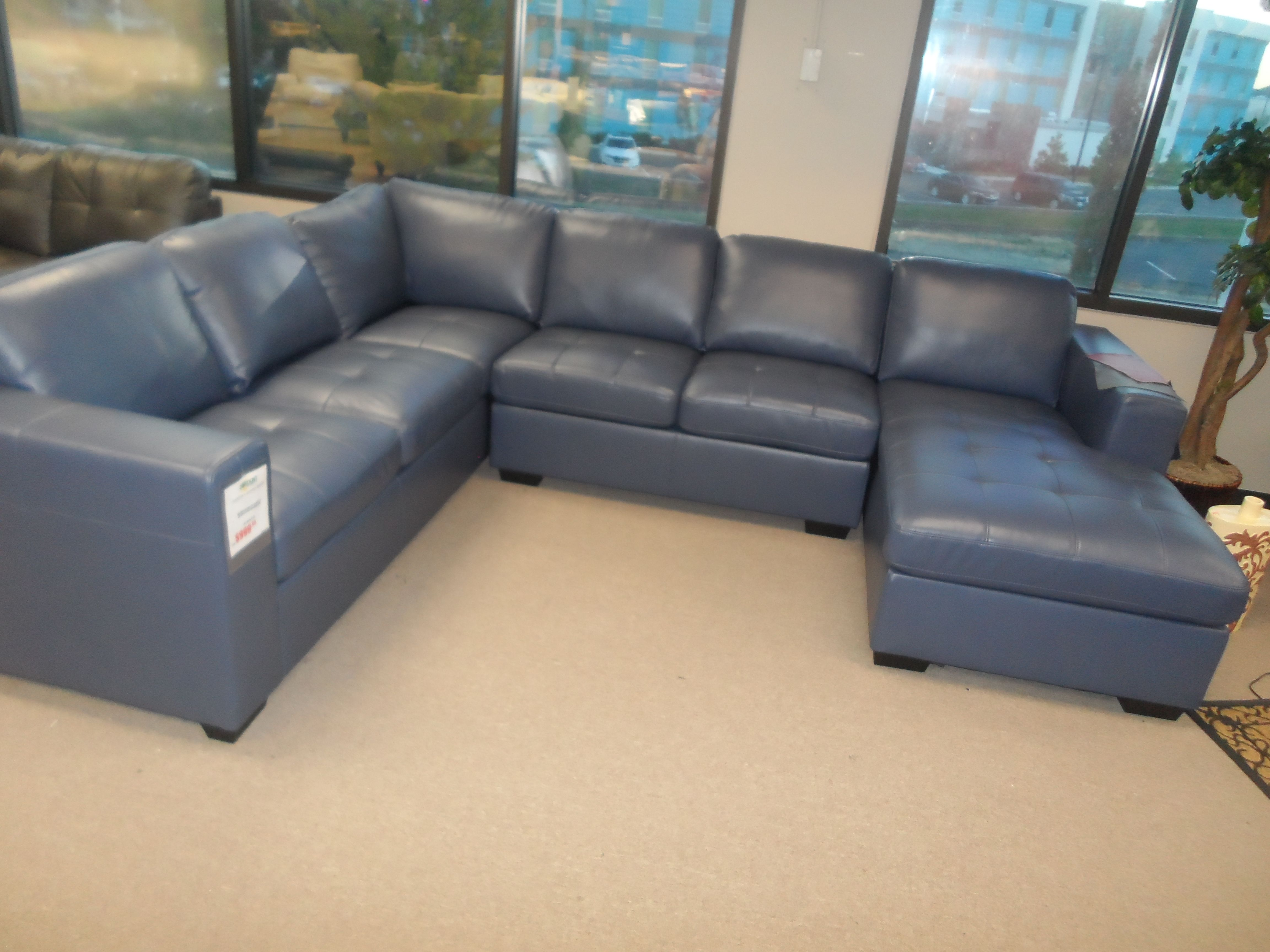Fine Home Marlo Navy L Sectional Sofa