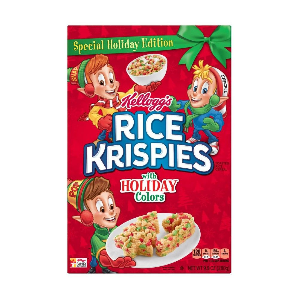 Rice Krispies Holiday Colors Breakfast Cereal