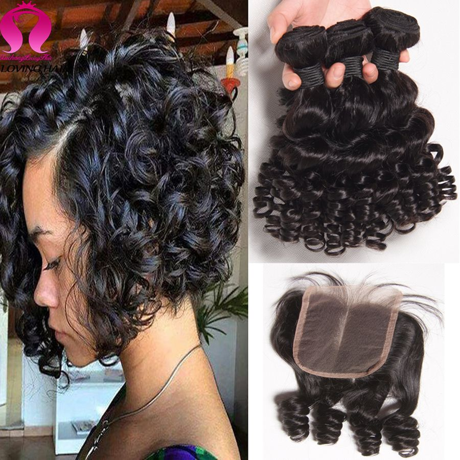 brazilian virgin hair with closure bob weave 3 bundels with closure funmi hair with closure. Black Bedroom Furniture Sets. Home Design Ideas