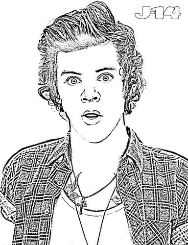 10 Printable One Direction Coloring Pages Coloring Pages People
