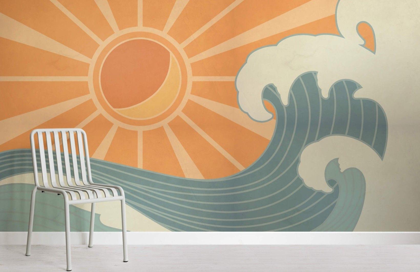 Vintage Surf Wallpaper Mural Muralswallpaper Kids Room Murals Wall Murals Wall Murals Diy