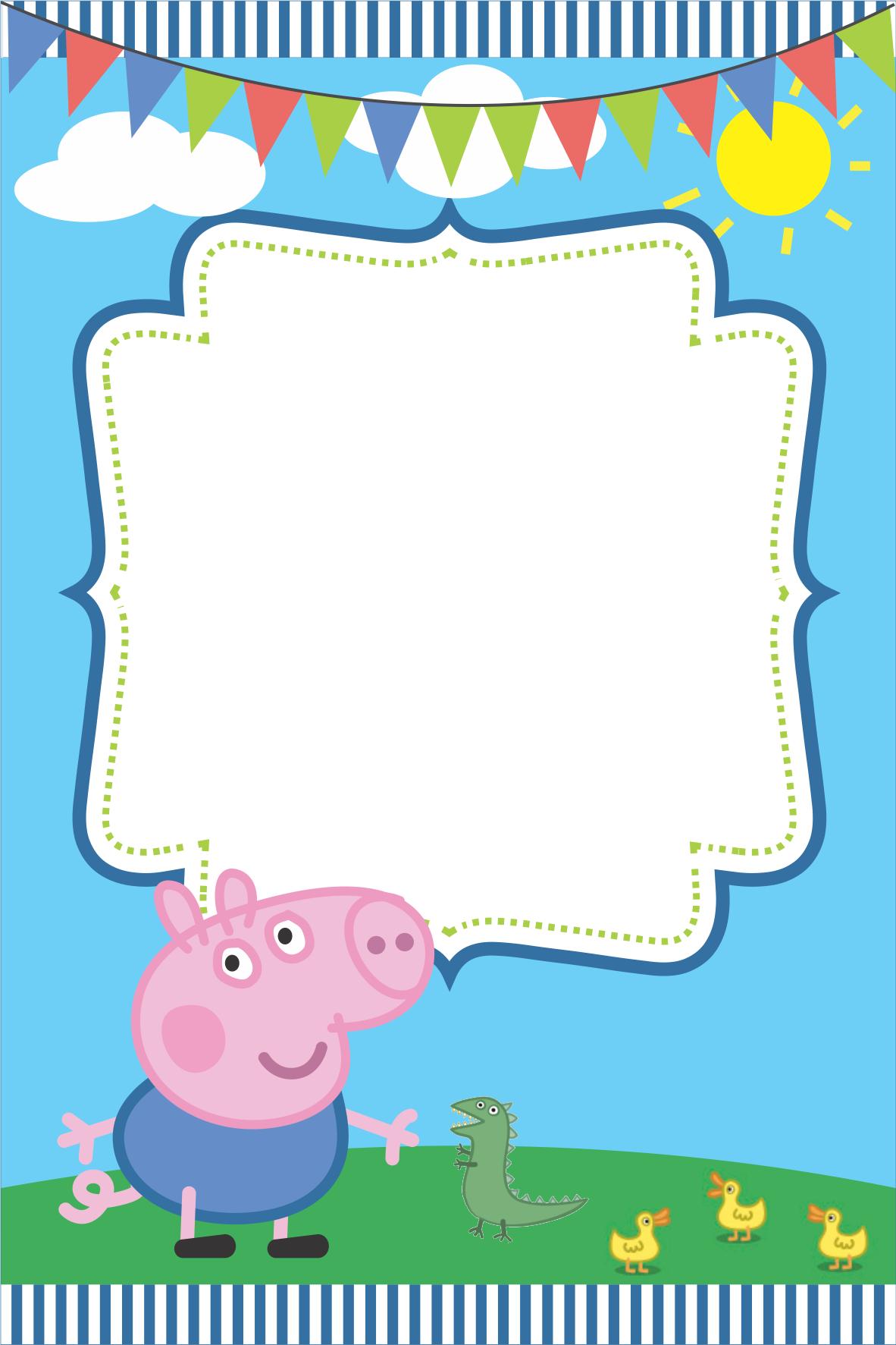 Peppa Pig Fairy Free Printable Invitations Cami 3