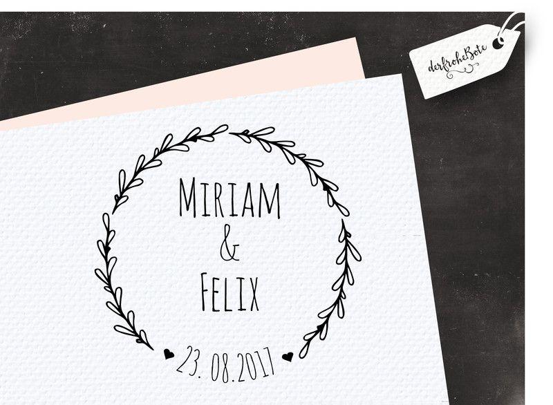 """♥ Stempel individuell /""""Hochzeit/"""" mit euren Namen ♥ für die Einladungen"""