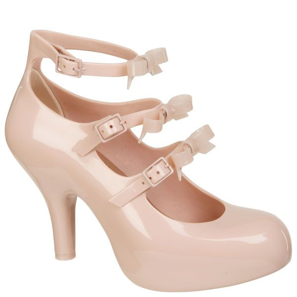 Vivienne Westwood For Melissa Women's 3 Strap Elevated Bow Heels - Nude  £160.00