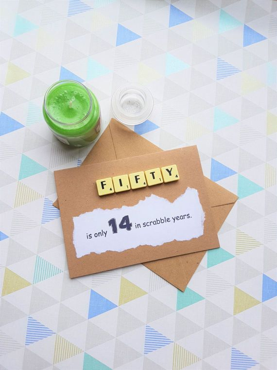 50th Birthday 50th Birthday Card Anniversary Card 50 Card Card