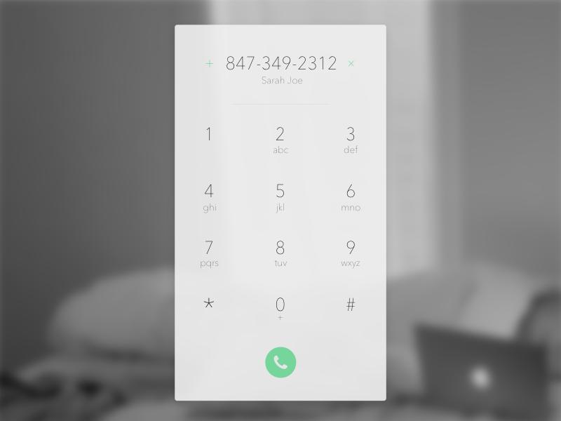 Dial Pad Design | User Interface Design | Pad design, User