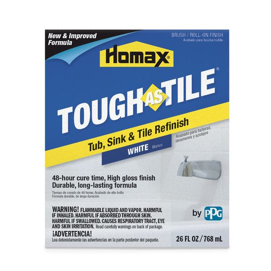 Homax Tough As Tile Brush On Tub Sink Tile Refinishing Product Non Kit White Refinishing Kit Tile