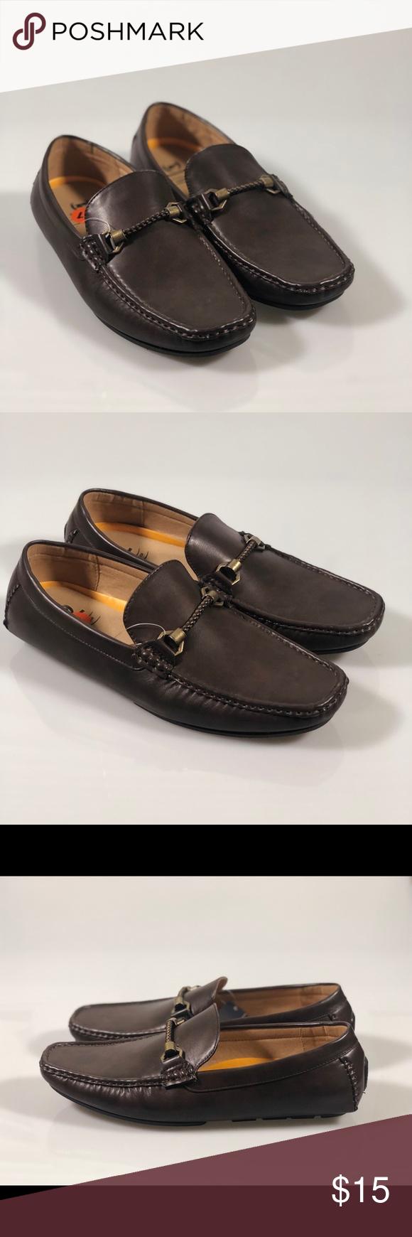 PHATFARM Men/'s Black Loafer Shoes.