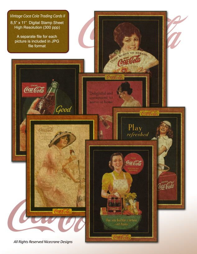vintage trading cards   Home :: Vintage Advertising :: Vintage Coca Cola Trading Cards II