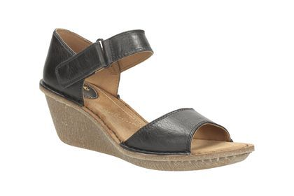 Clarks Orient Sea, Black Leather, Womens Casual Sandals | StyleStreet |  Pinterest | Clarks, Black leather and Sandals