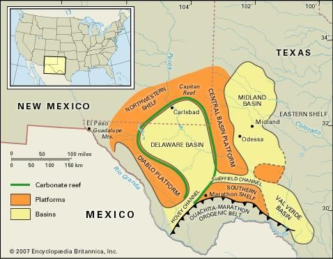 Map Of West Texas And New Mexico.Permian Basin Energy Stuff Oil Gas West Texas Texas