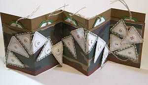 banner card, handmade greeting card, papercraft, accordion card, graduation card