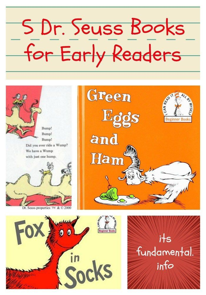 5 Dr. Seuss Books for Early Readers | Books, Homeschool and Book ...