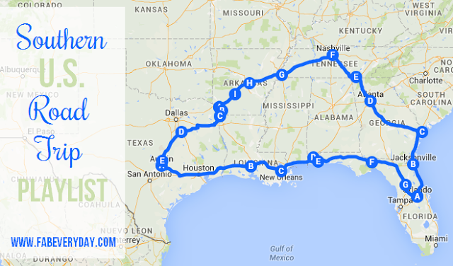 Driving Map Southeast Us Pin on travel