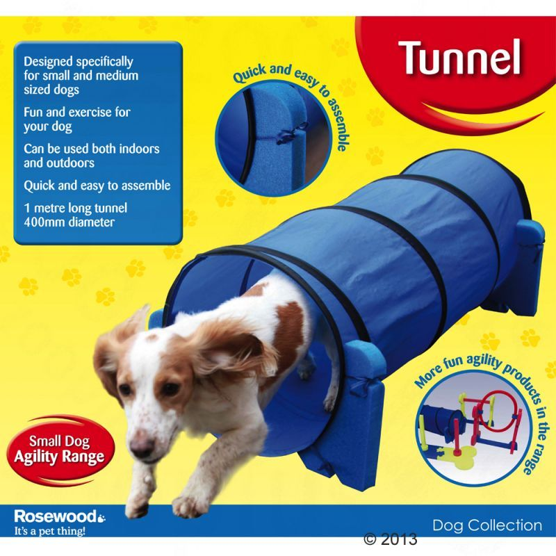 Rosewood Small Dog Tunnel For Agility Training Great Deals At Zooplus Dogs Dog Training Dog Brain
