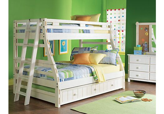 Shop for a Creekside White Wash Twin Full Bunk Bedroom at Rooms To Go Kids. Find  that will look great in your home and complement the rest of your furniture.
