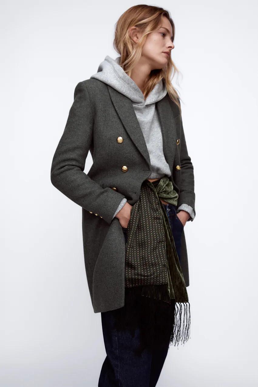 Wool Blend Coat Zara Serbia Wool Blend Coat Coat Outerwear Women [ 1275 x 850 Pixel ]
